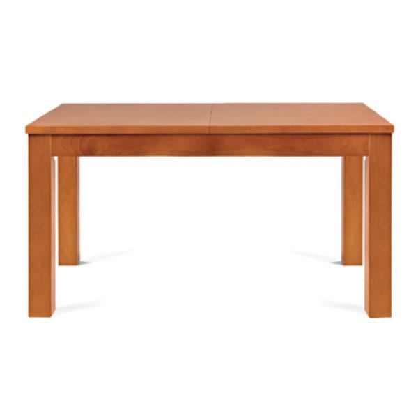 Mesa de comedor extensible de madera de pino con diferentes colores y acabados