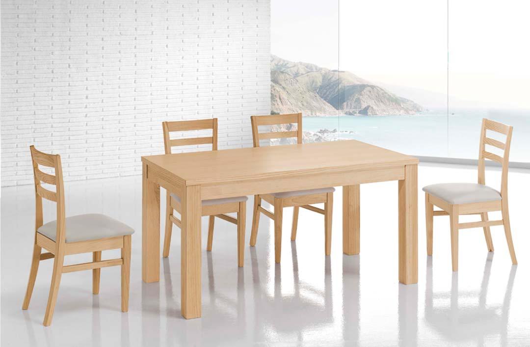 Mesa de comedor de madera maciza y estilo n rdico la for Mesa centro estilo nordico