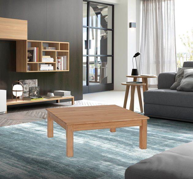 Mesa de centro madera maciza online de alta calidad la for Mesa de centro madera maciza