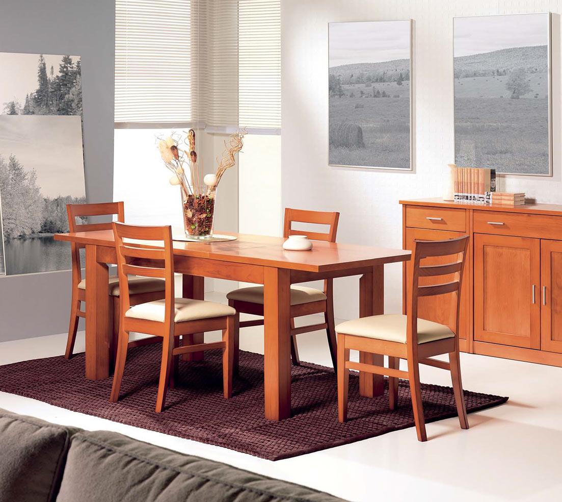 Mesa de comedor extensible cerezo la mesa de centro for Comedor extensible