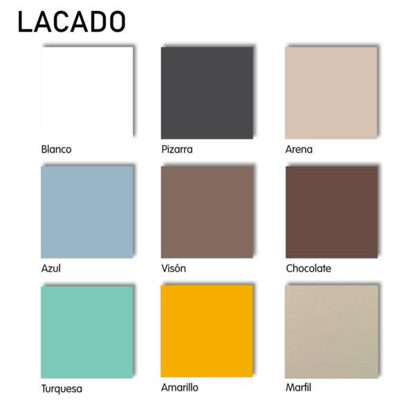 colores madera lacada