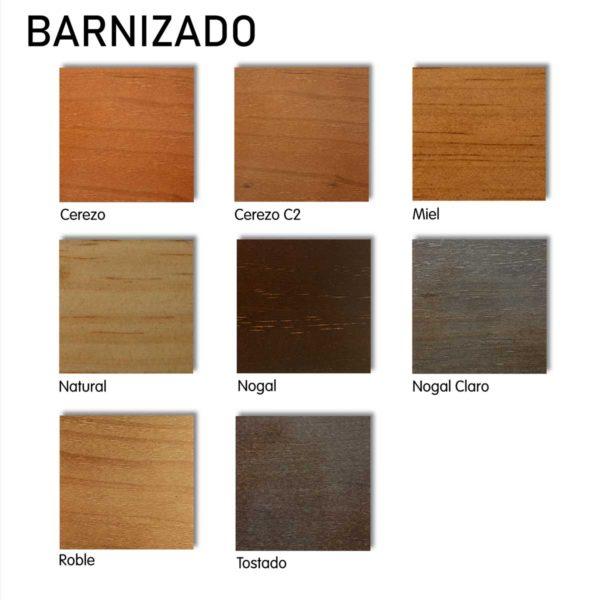acabados barnizado madera