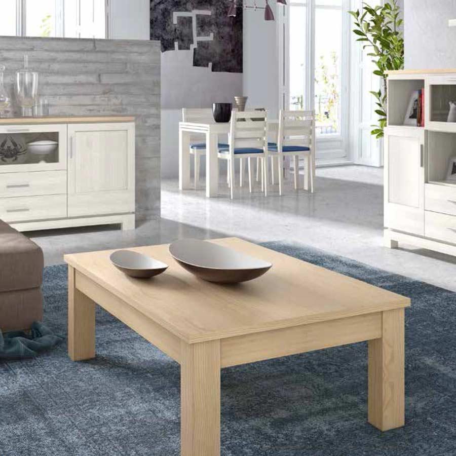 Mesas de centro de madera maciza de pino de alta calidad for Mesas rusticas de madera maciza