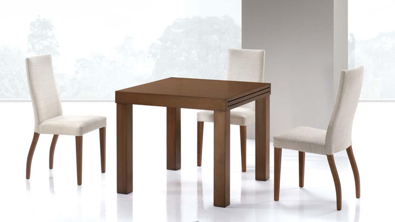 Mesa comedor extensible cuadrada la mesa de centro for Mesas de comedor jamar