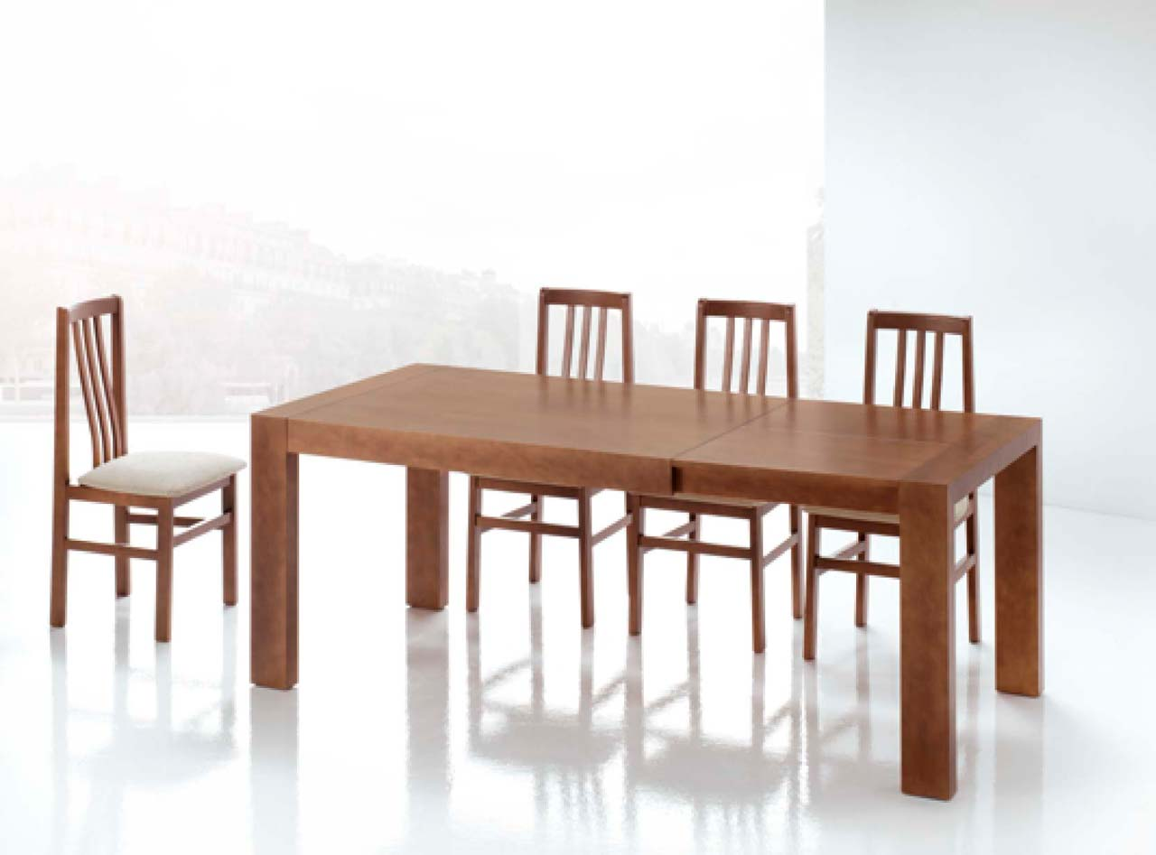Mesas de comedor de madera extensibles la mesa de centro for Mesas de comedor madera