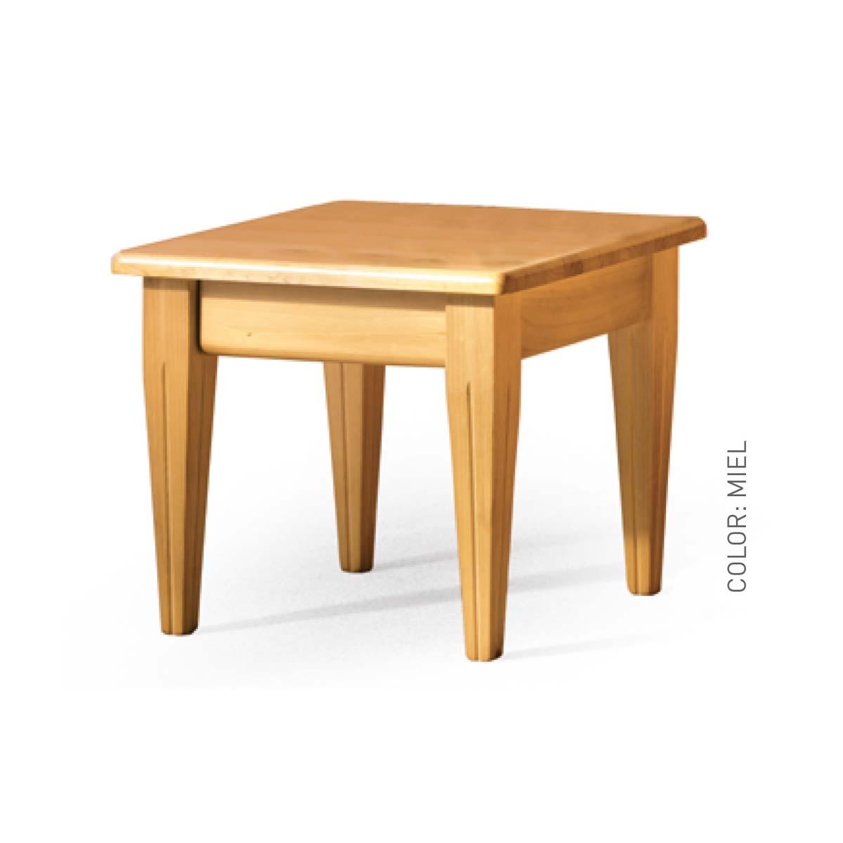 Mesa auxiliar madera maciza 3003 la mesa de centro for Mesa de centro madera maciza