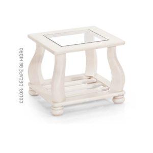 mesa rincón tapa cristal