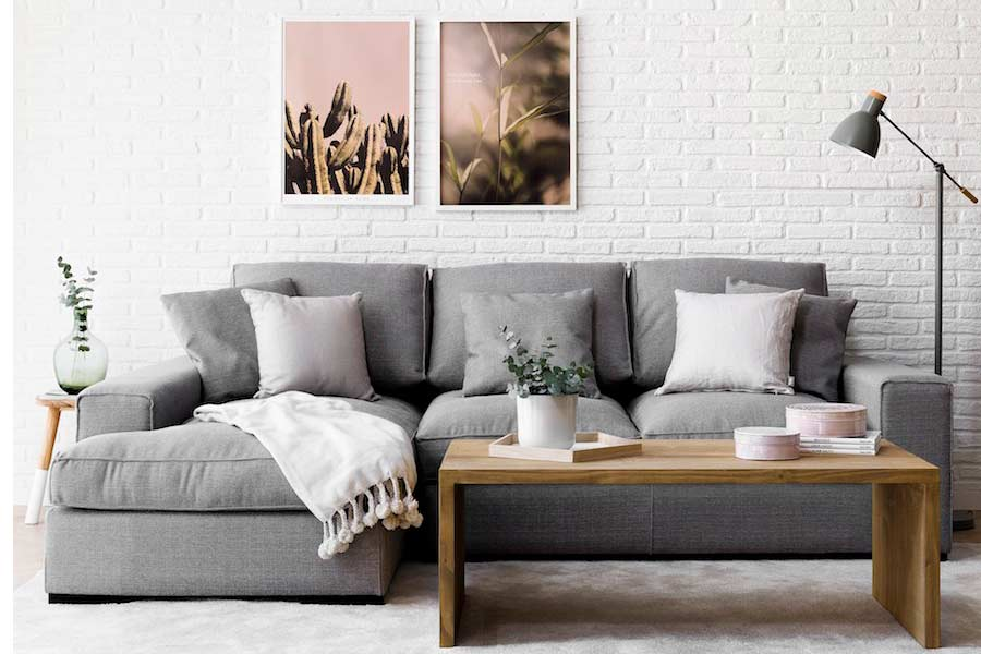 sofás nórdicos tapizados