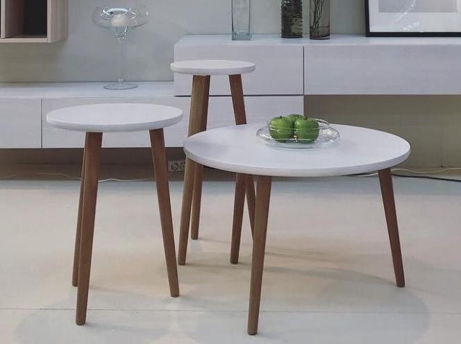 Conjunto mesas de centro redondas macizas la mesa de centro - Mesas de centro redondas amazon ...