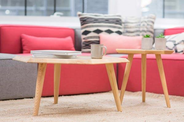 altura mesa de centro y sofá