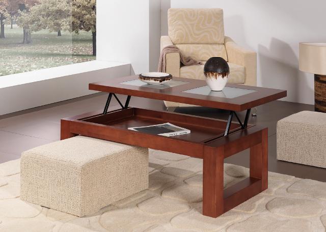 Mesas de centro madera y cristal - La Mesa de Centro