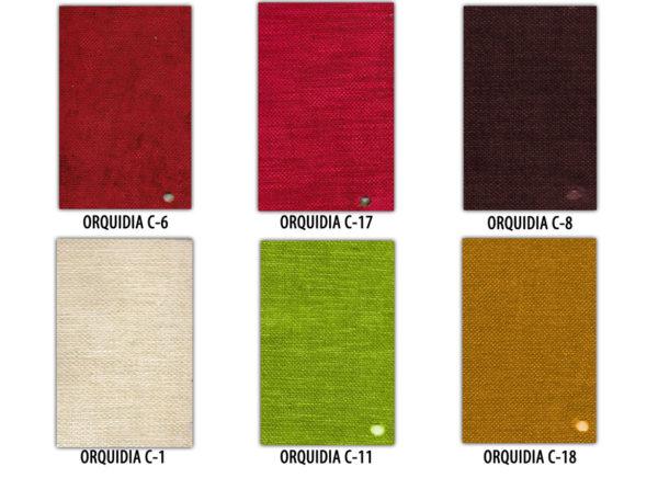 colores tapizado silla
